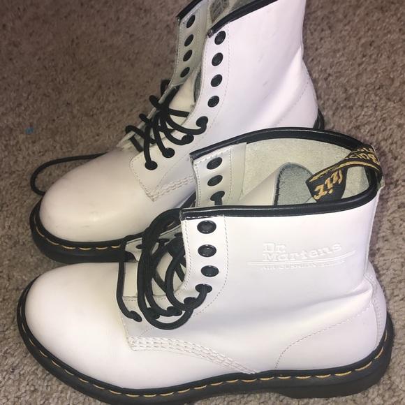 White Preloved Doc Marten Boots Size